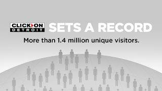 ClickOnDetroit Sets Record with Huge Surge of Users
