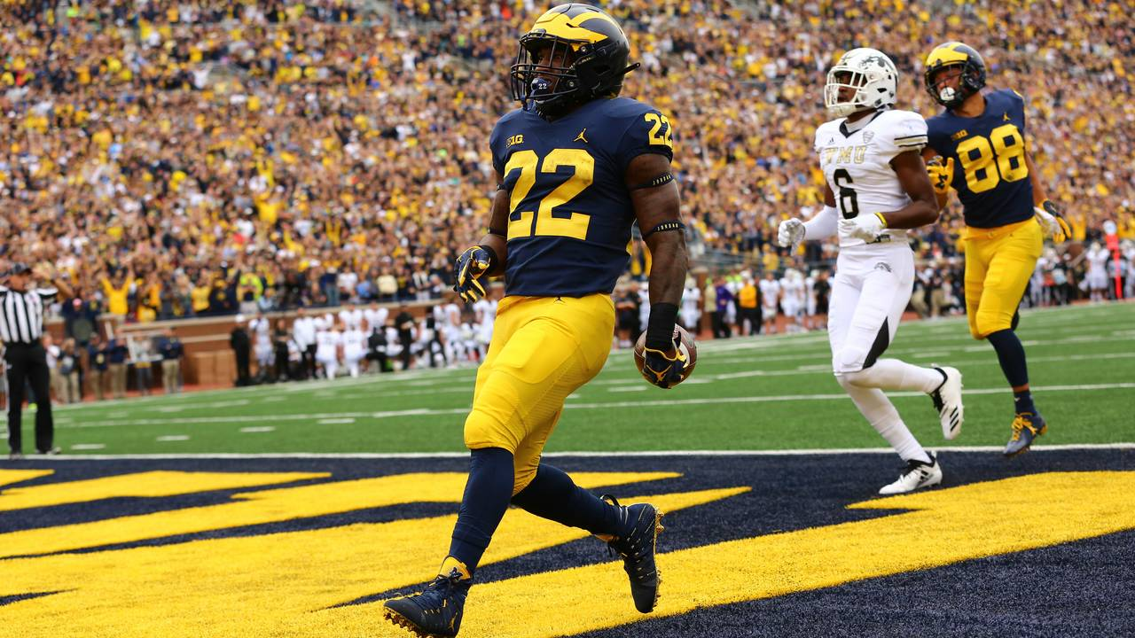 Karan Higdon Michigan football 2018