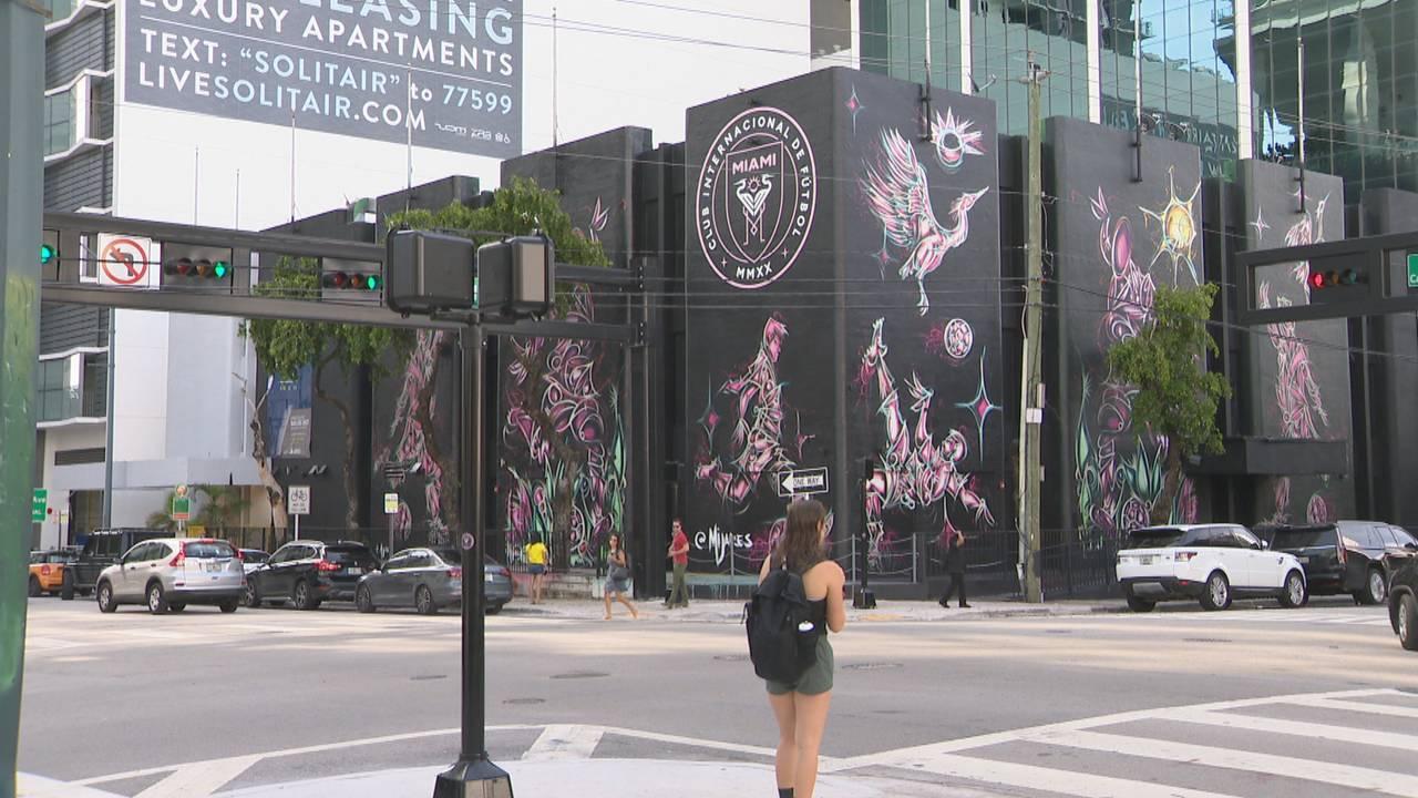 Club Internacional de Futbol Miami Major League Soccer team mural in Brickell
