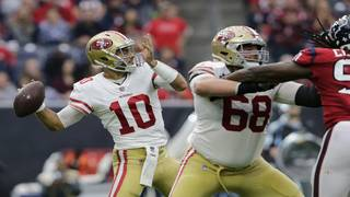 QB Garoppolo leads 49ers to 26-16 win over Texans