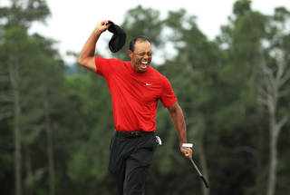 5fffd800 Tiger Woods seals fifth Masters title and 15th major