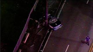 Hialeah police cruiser involved in single-vehicle crash