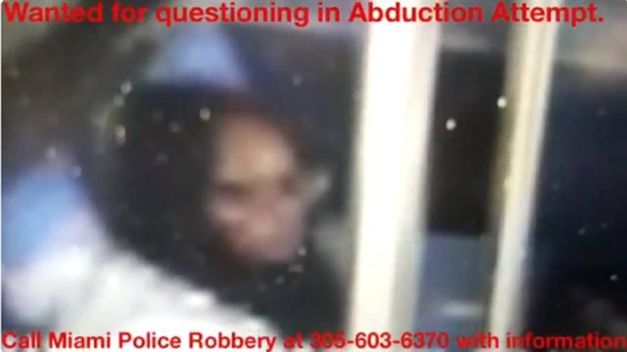 Woman wanted for questioning in Miami attempted abduction