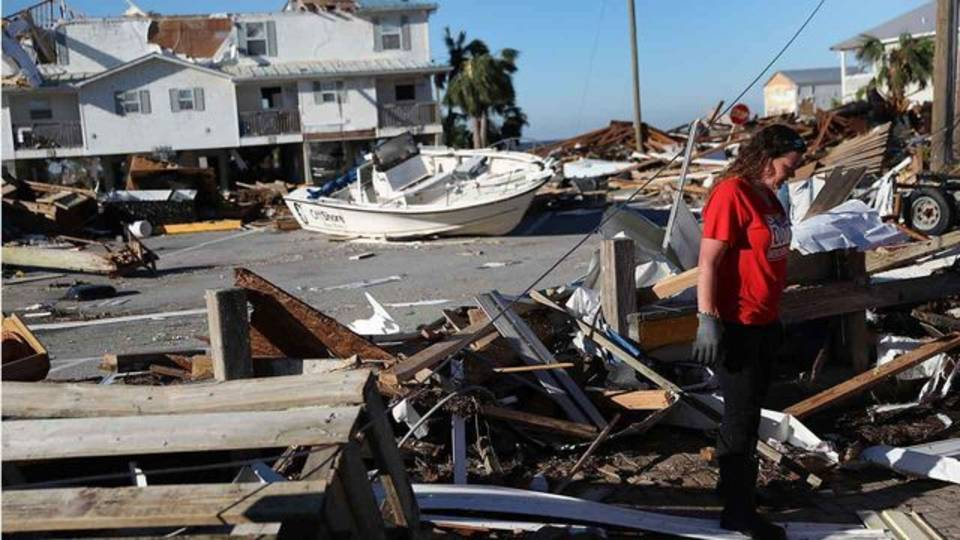 Hurricane Michael Woman at her home
