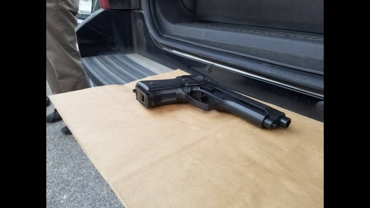 'gun' man had when he was shot by officers