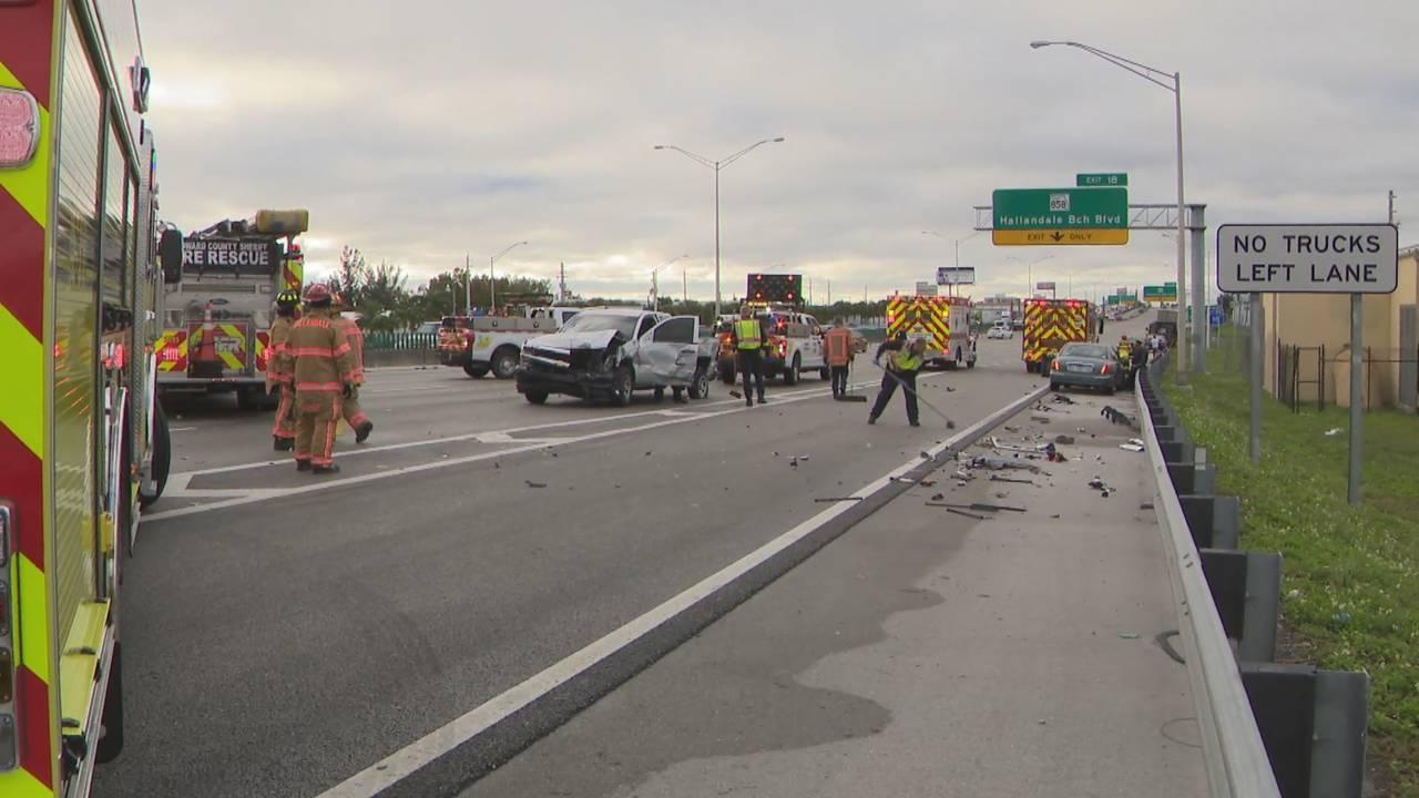 I-95 crash at Pembroke Road exit