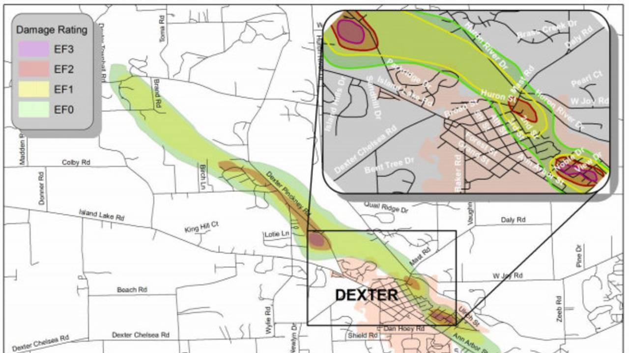 5 years ago: Devastating tornado rips through Dexter, Michigan