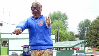 Harry Caray statue vandalized at Little Cubs Field