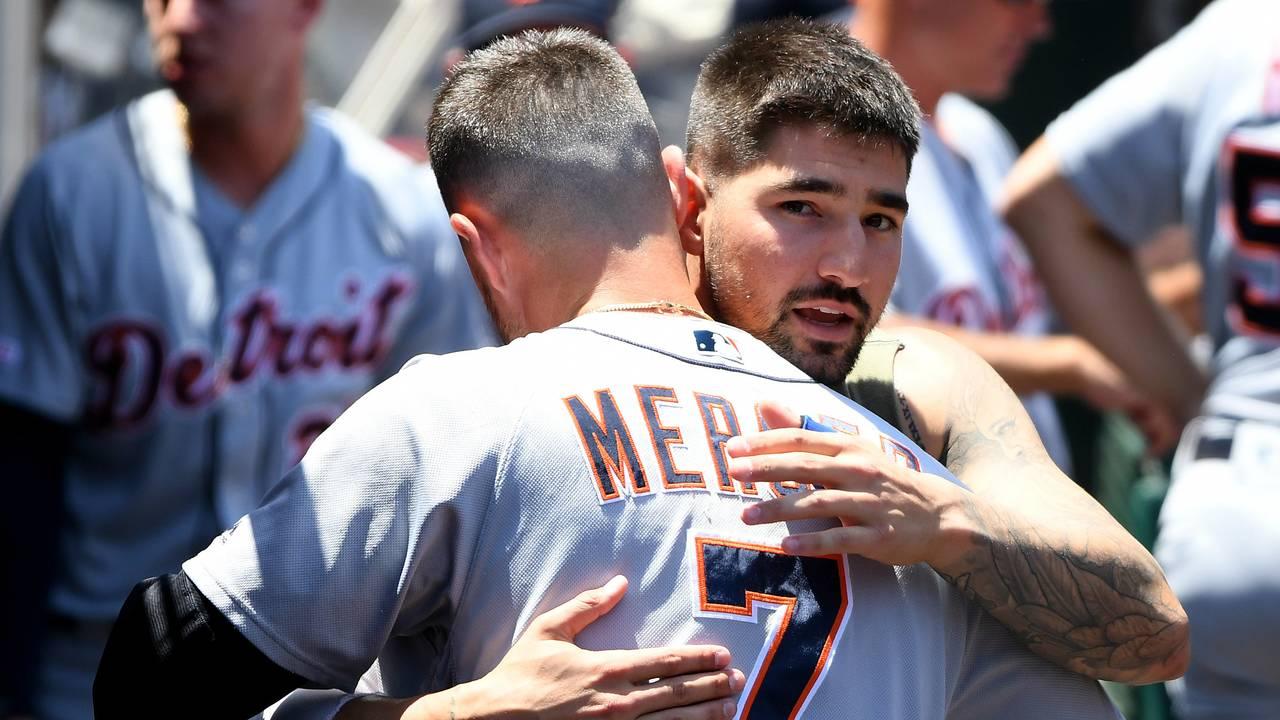 Nicholas Castellanos traded goodbyes Detroit Tigers 2019