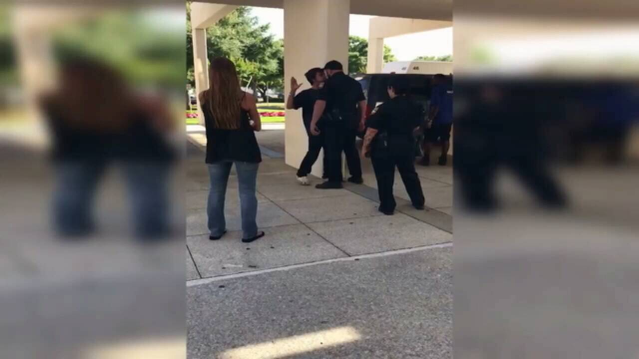 Still image from video captured outside UF Health 1