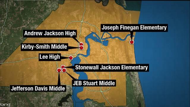 Confederate School-names