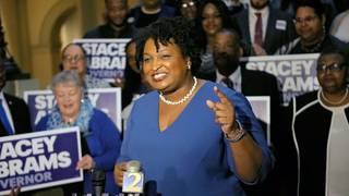 Stacey Abrams calls Kemp Georgia's 'legal' governor