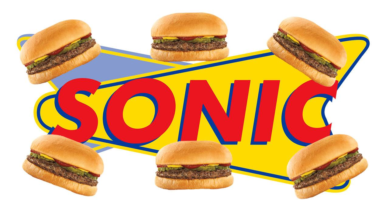 sonic logo and jr burgers