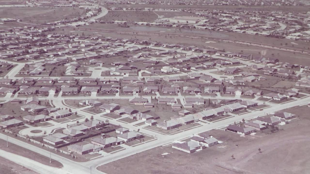 Clear Lake aerial image from 1960s
