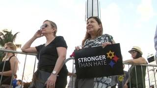 Hundreds gather in Miami Beach to remember synagogue shooting victims