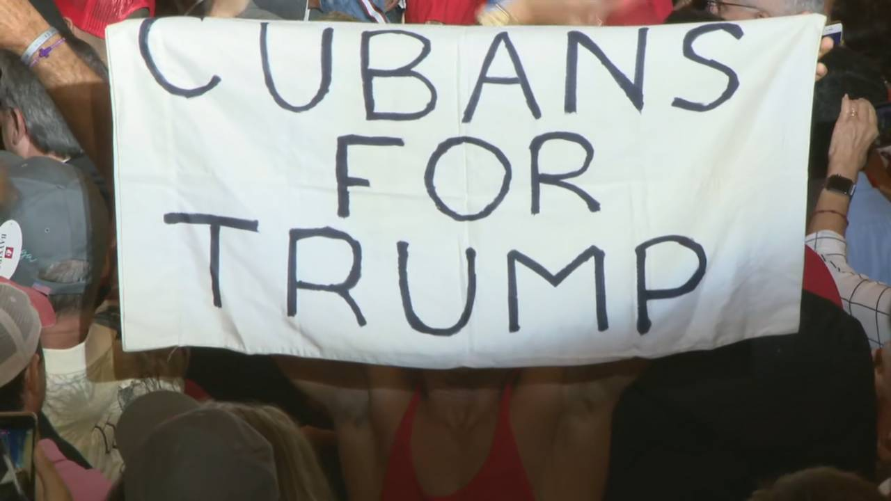 'Cubans for Trump' sign in Miami