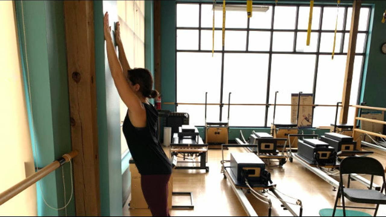 Standing Wall Stretch 2