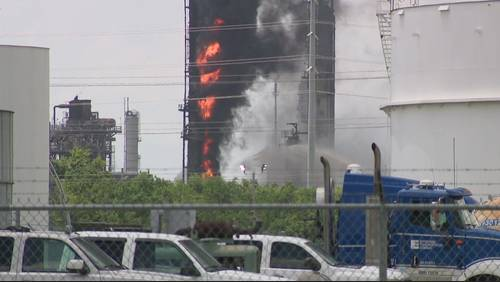 Harris County sues ExxonMobil after fire at Baytown plant extinguished