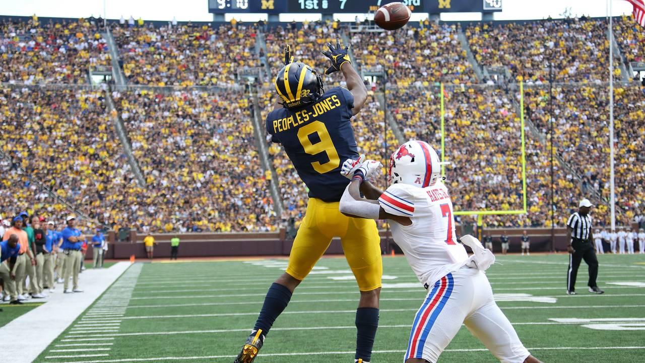 Donovan Peoples-Jones touchdown catch DPJ Michigan football vs SMU 2018