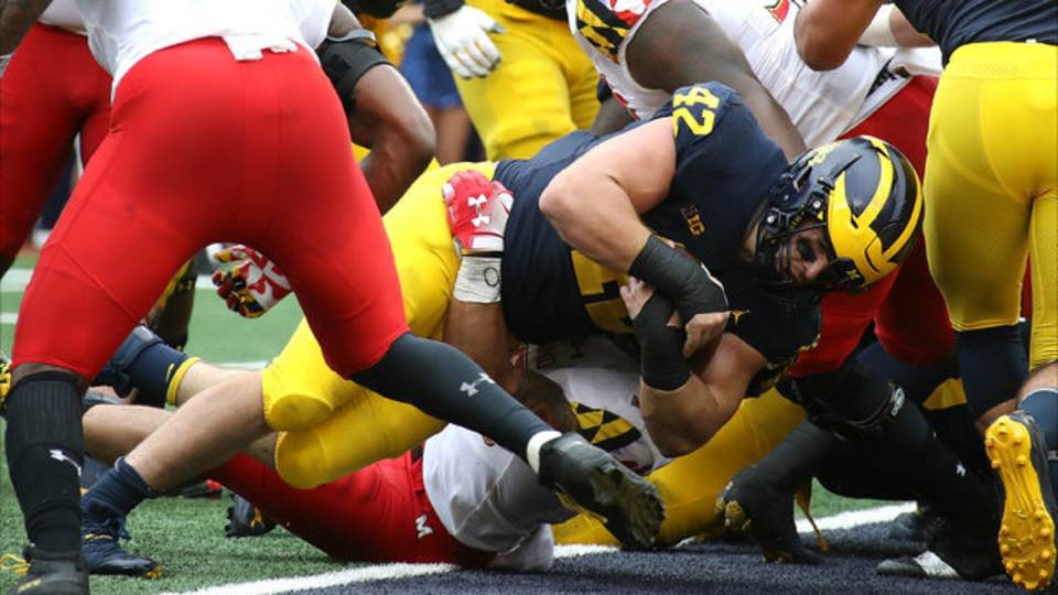 Ben Mason touchdown Michigan football vs Maryland 2018