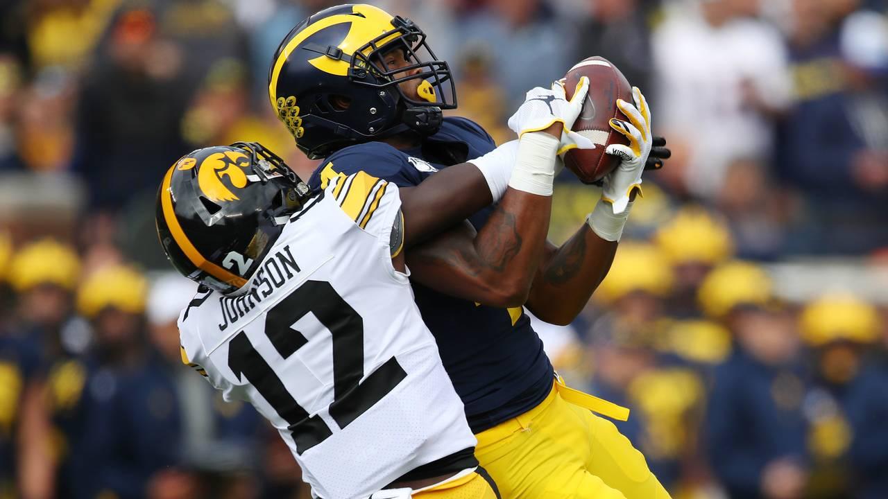 Nico Collins catch Michigan football vs Iowa 2019