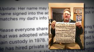 Man searches for daughter 39 years after adoption