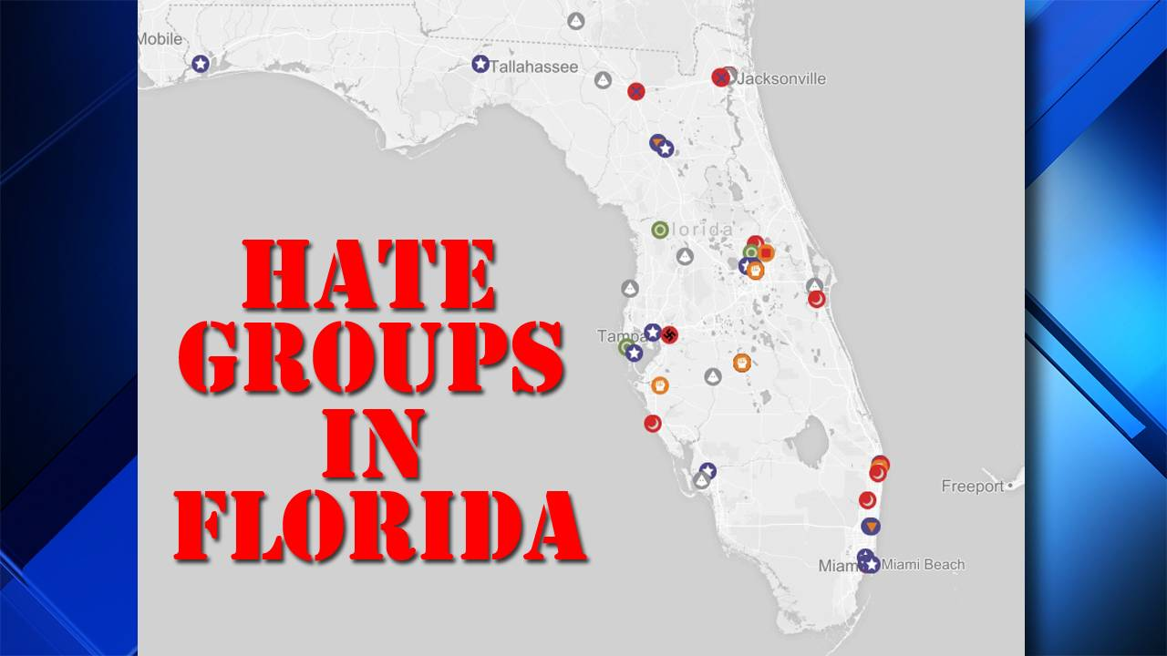 Coral Bay Florida Map.Map Details Where Florida Hate Groups Are In 2017