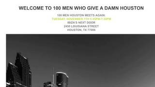 Click2Daily: Catching up with 100 Men Who Give a Damn - Houston Chapter