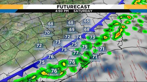 Temps fall as cold front moves through