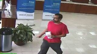 Man wearing red shirt sought in Hialeah bank robbery