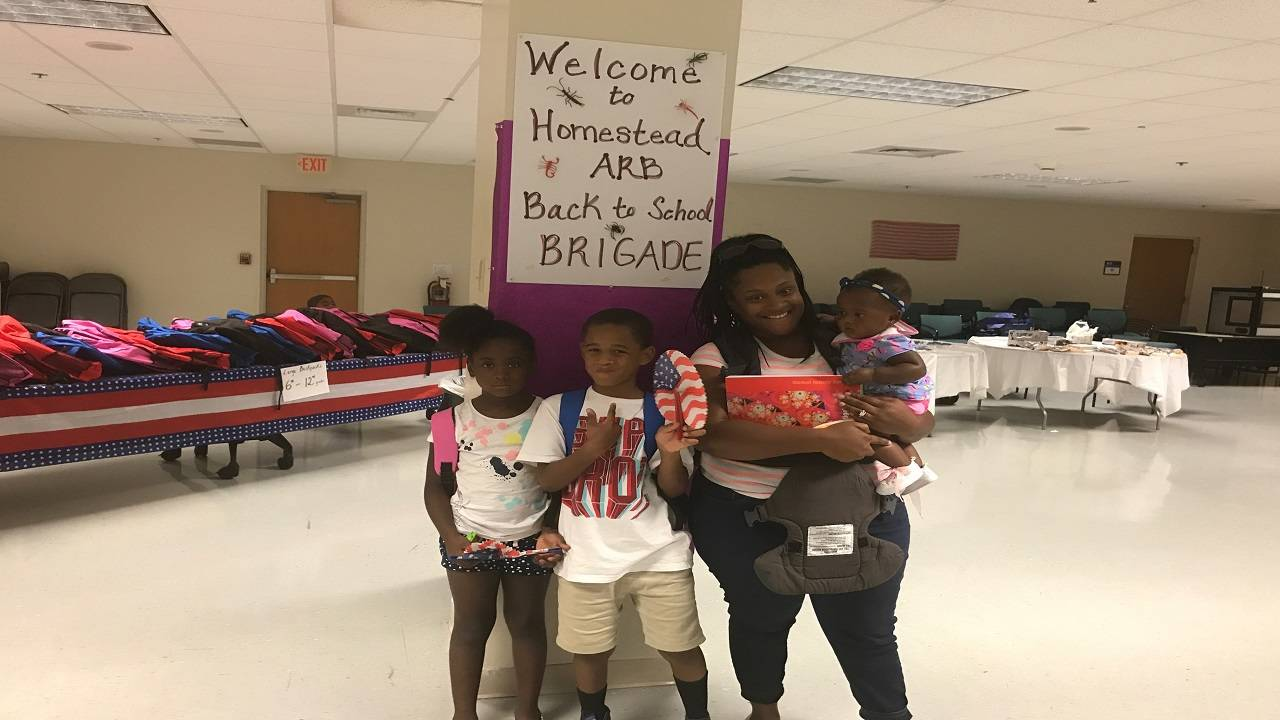 Military family at Operation Homefront