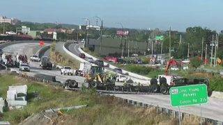 I-4 reopens in Orange County after truck, trusses cleared from road