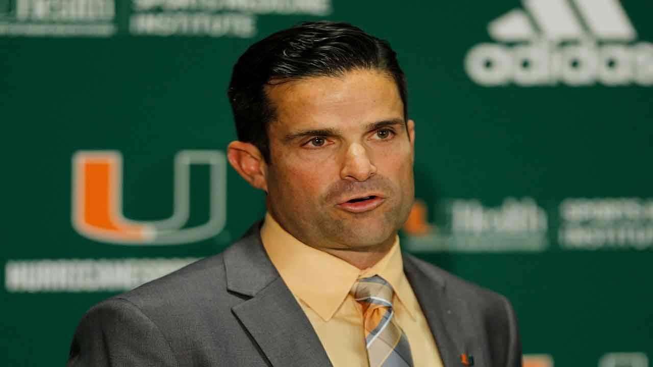 Miami Hurricanes head coach Manny Diaz
