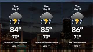 High rain chances continue through next weekend