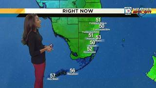 The chill is on in South Florida Friday morning