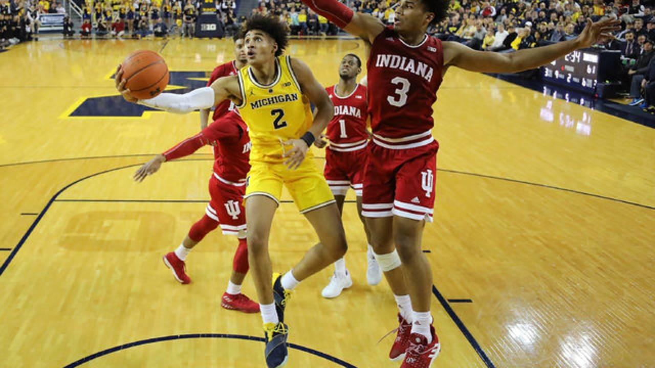 Jordan Poole Michigan basketball vs Indiana 2019