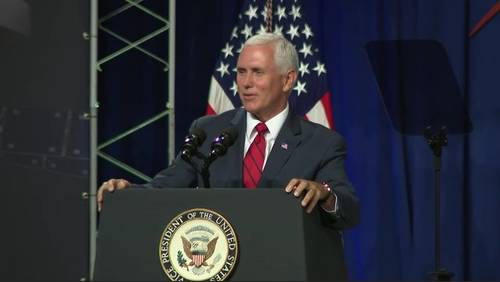 Pence discusses plans for moon return at Johnson Space Center