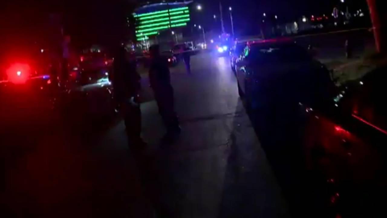 Wayne State officer shot scene