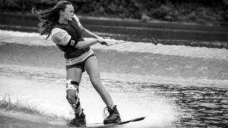 Wakeboarding champion uses professional skills to give back to group of women