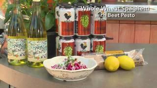 H-E-B Whole Wheat Spaghetti with Beet Pesto