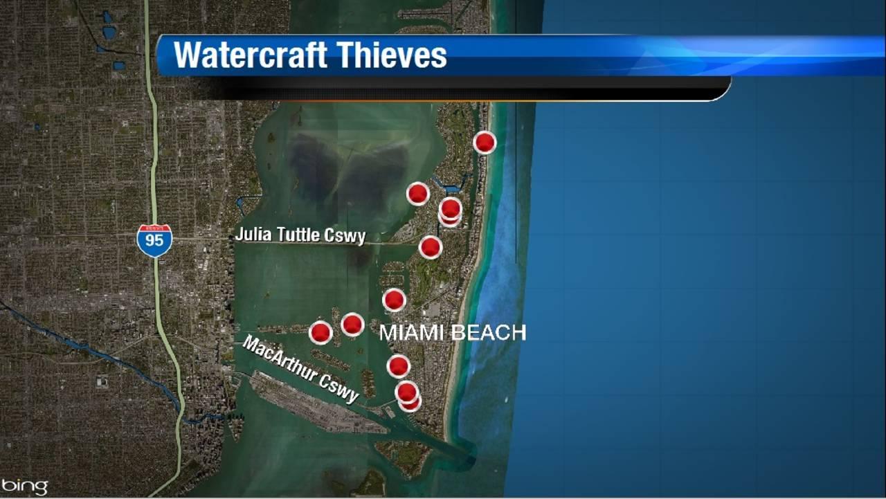 Watercraft Thieves Map