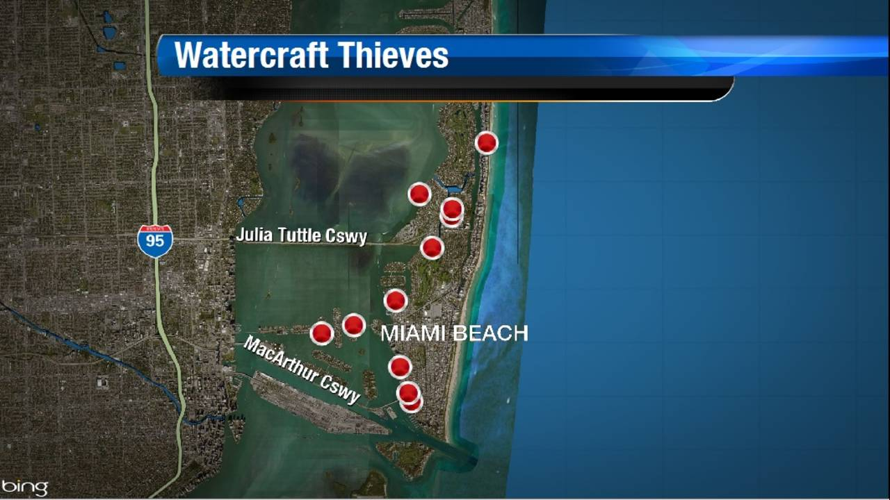 Watercraft Thieves Map