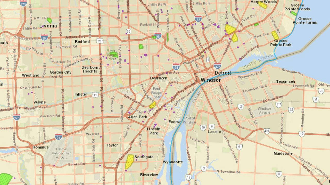 Power Outage Map West Michigan.Dte Energy Power Outage Map Thousands Of Metro Detroiters