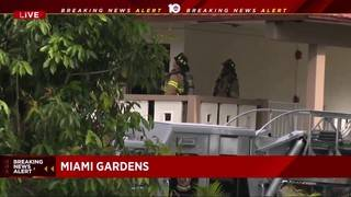 Firefighters respond to building fire in Miami Gardens