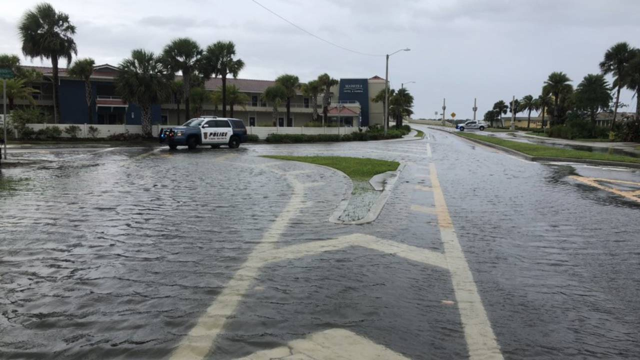 Dorian Bridge of Lions flooding St. Augustine Davis Shores