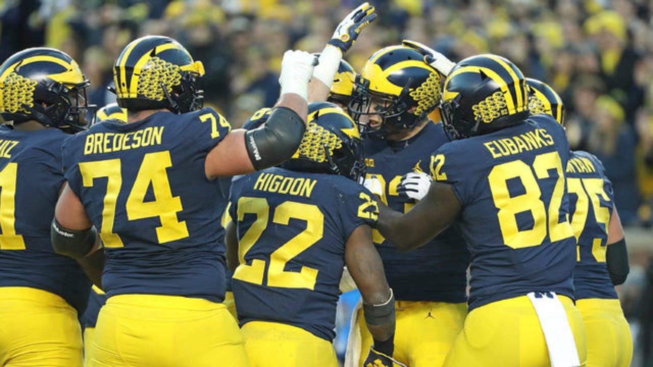 Michigan football celebrates Zach Gentry touchdown vs Penn State 2018