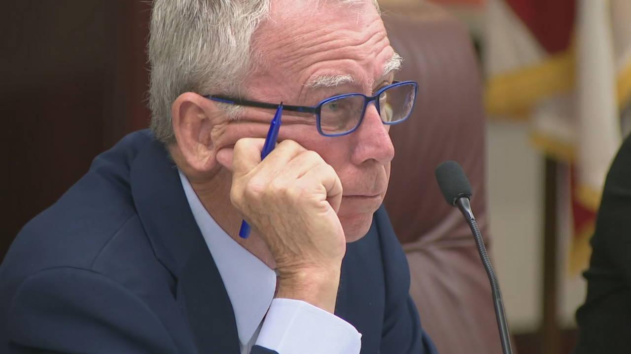 Special Master Dudley Goodlette at Florida Senate hearing for Scott Israel