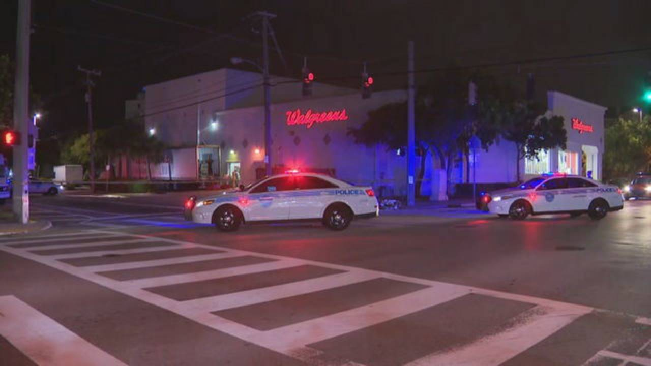 Police at scene of hit-and-run in Miami