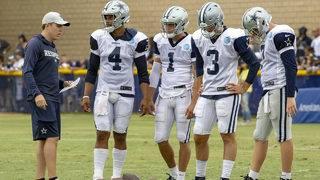 Cowboys promote Kellen Moore, hire Jon Kitna as QB coach