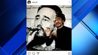 Chef 'Salt Bae' faces backlash over pic with image of Fidel Castro